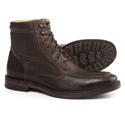 Johnston & Murphy Baird Moc-Toe Boots - Leather (For Men) in Dark Red Brown - Closeouts