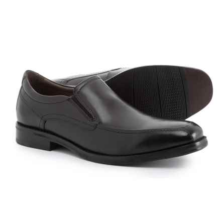 Johnston & Murphy Bartlett Moc-Toe Venetian Loafers (For Men) in Black - Closeouts