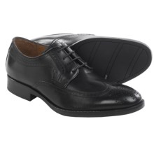 Johnston & Murphy Beckwith Wingtip Oxford Shoes - Leather (For Men) in Black - Closeouts