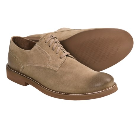 Johnston & Murphy Borland Shoes - Plain Toe (For Men) in Camel