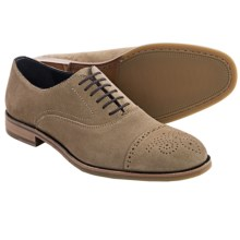 Johnston & Murphy Burrell Oxford Shoes -Cap Toe (For Men) in Beige Suede - Closeouts