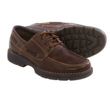 Johnston & Murphy Byatt Moc-Toe Shoes - Leather (For Men) in Dark Red Brown - Closeouts