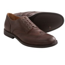 Johnston & Murphy Cardell Wingtip Shoes - Leather (For Men) in Mahogany - Closeouts