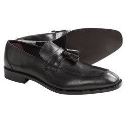Johnston & Murphy Carlock Tassel Loafer Shoes - Leather (For Men) in Black