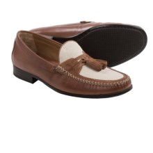Johnston & Murphy Cresswell Tassel Loafers - Linen and Leather (For Men) in Tan - Closeouts