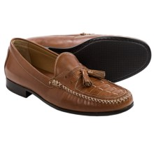 Johnston & Murphy Cresswell Woven Leather Loafers (For Men) in Tan - Closeouts