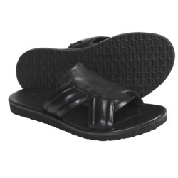 Johnston & Murphy Dealey Cross Strap Sandals - Leather (For Men) in Black Smooth