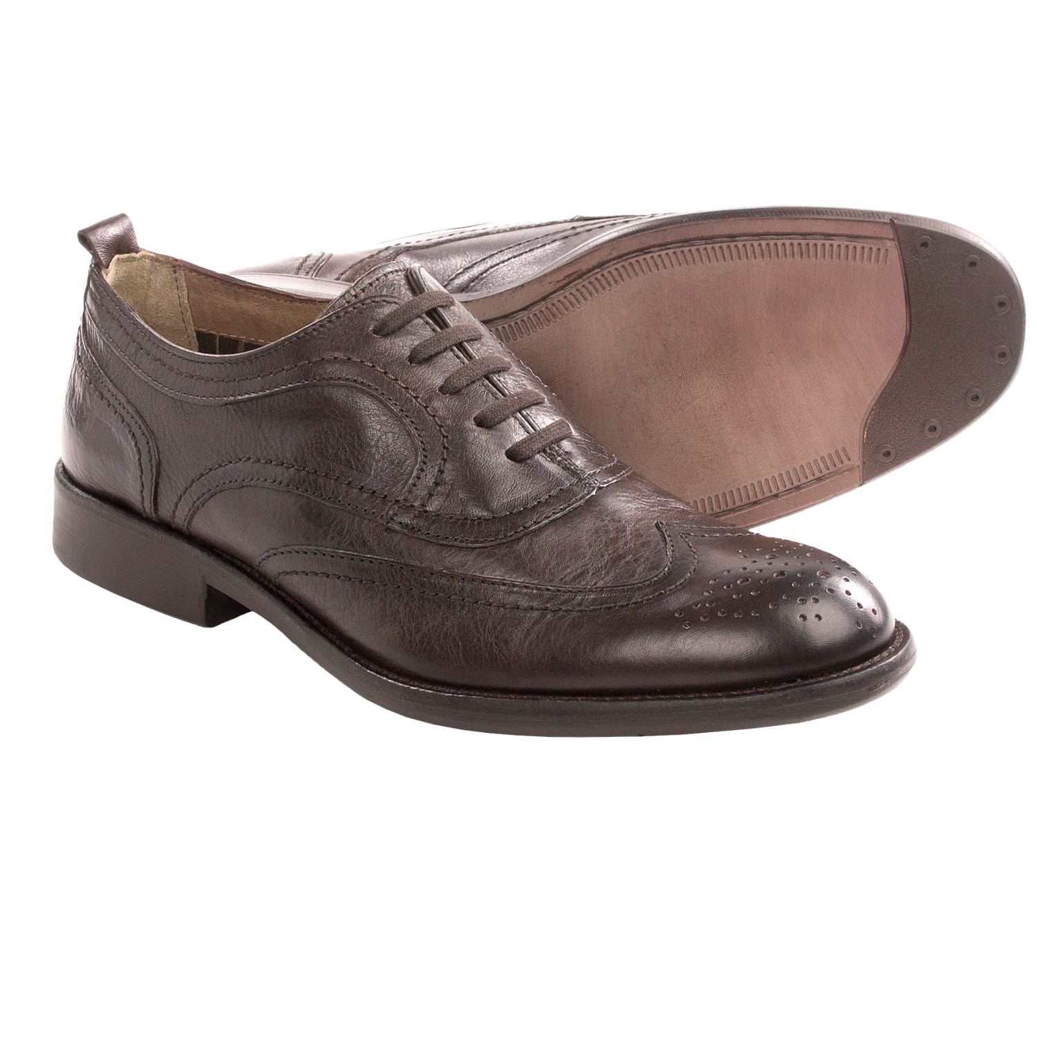 Johnston & Murphy Decatur Wingtip Shoes (For Men) in Dark Brown