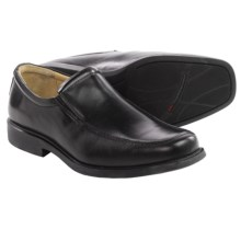 Johnston & Murphy Goodwin Venetian Loafers - Italian Leather, Moc Toe (For Men) in Black - Closeouts
