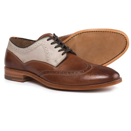 Johnston & Murphy Graham Wingtip Oxford Shoes - Leather (For Men) in Tan