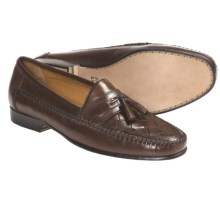 Johnston & Murphy Latimer Woven Tassel Shoes - Slip-Ons (For Men) in Tan - Closeouts