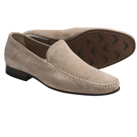 Johnston & Murphy Loftis Venetian Shoes - Suede (For Men) in Beige Suede