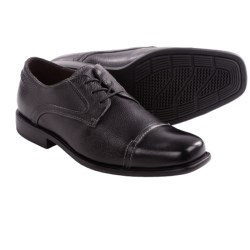 Johnston & Murphy Macomb Calfskin Shoes - Cap Toe, Lace-Ups (For Men) in Black