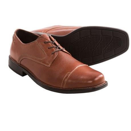Johnston & Murphy Macomb Calfskin Shoes - Cap Toe, Lace-Ups (For Men) in Tan