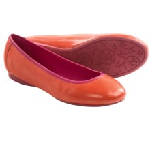 Johnston & Murphy Marcie Ballet Shoes - Leather (For Women) in Orange/Pink - Closeouts