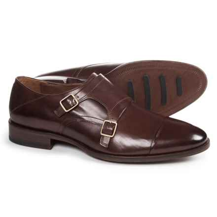 Johnston & Murphy Nolen Double Monk Cap-Toe Shoes - Leather (For Men) in Dark Brown - Closeouts