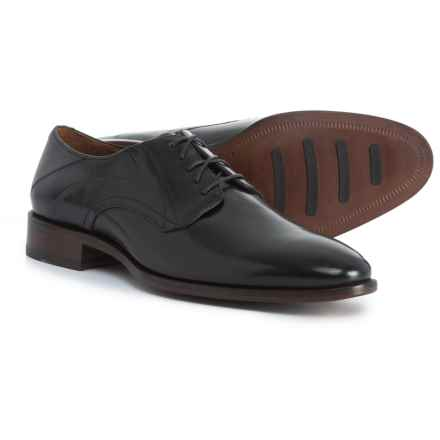 Johnston & Murphy Nolen Plain Toe Oxford Shoes - Leather (For Men) in Black - Closeouts