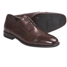 Johnston & Murphy Suffolk Cap Toe Shoes - Waterproof, Oxfords (For Men) in Mahogany - Closeouts