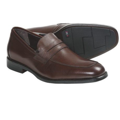 Johnston & Murphy Suffolk Penny Loafer Shoes (For Men) in Mahogany