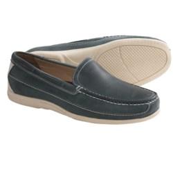 Johnston & Murphy Trevitt Venetian Shoes - Leather (For Men) in Navy