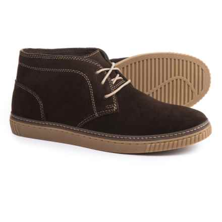 Johnston & Murphy Wallace Chukka Boots - Suede (For Men) in Dark Red Brown - Closeouts