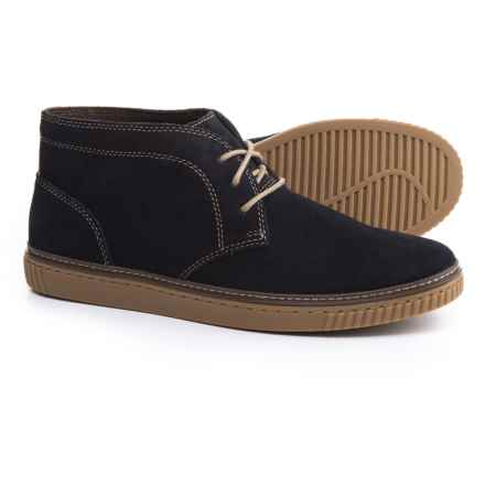 Johnston & Murphy Wallace Chukka Boots - Suede (For Men) in Navy Suede - Closeouts