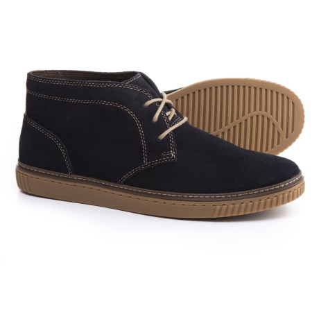 Johnston & Murphy Wallace Chukka Boots - Suede (For Men) in Navy Suede