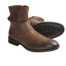 Johnston & Murphy Whitaker Harness Boots - Leather (For Men) in Dark Chestnut - Closeouts