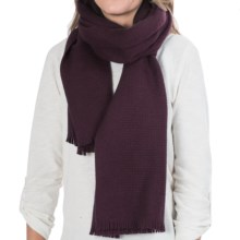 Johnstons of Elgin Basket-Weave Scarf - Cashmere (For Men and Women) in Plum - Closeouts