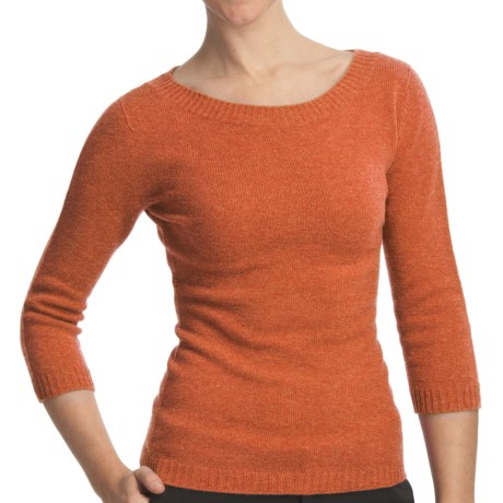 Johnstons of Elgin Boat Neck Sweater - Cashmere (For Women) in Oatmeal