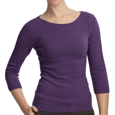Johnstons of Elgin Boat Neck Sweater - Cashmere (For Women) in Elderberry