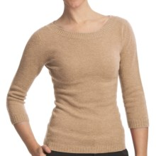 Johnstons of Elgin Boat Neck Sweater - Cashmere (For Women) in Oatmeal - Closeouts