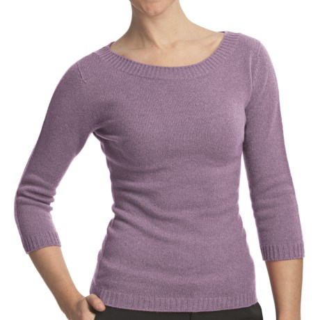 Johnstons of Elgin Boat Neck Sweater - Cashmere (For Women) in Pigeon