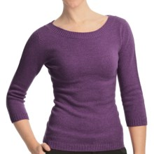 Johnstons of Elgin Boat Neck Sweater - Cashmere (For Women) in Thistle - Closeouts