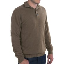 Johnstons of Elgin Button Turtleneck Sweater - Elbow Patches, Cashmere (For Men) in Heath/Eucalyptus - Closeouts