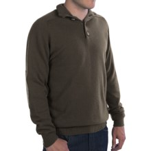 Johnstons of Elgin Button Turtleneck Sweater - Elbow Patches, Cashmere (For Men) in Loden/Eucalyptus - Closeouts