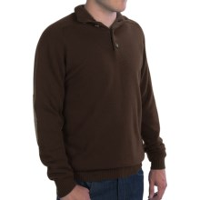 Johnstons of Elgin Button Turtleneck Sweater - Elbow Patches, Cashmere (For Men) in Treacle/Tobacco - Closeouts