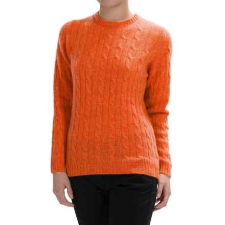 Johnstons of Elgin Cable-Knit Cashmere Sweater (For Women) in Clementine - Closeouts