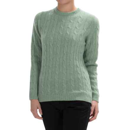 Johnstons of Elgin Cable-Knit Cashmere Sweater (For Women) in Eau De Nil - Closeouts