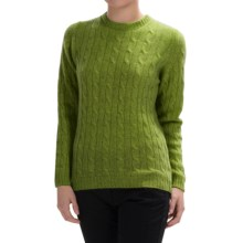 Johnstons of Elgin Cable-Knit Cashmere Sweater (For Women) in Moss - Closeouts