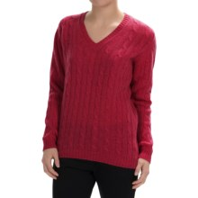 Johnstons of Elgin Cable-Knit Cashmere Sweater (For Women) in Ruby - Closeouts