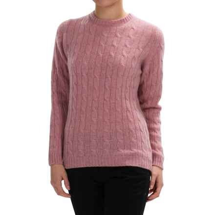 Johnstons of Elgin Cable-Knit Cashmere Sweater (For Women) in Tea Rose - Closeouts