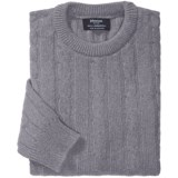 Johnstons of Elgin Cable-Knit Lambswool Sweater (For Men)