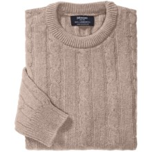 Johnstons of Elgin Cable-Knit Lambswool Sweater (For Men) in Oatmeal - Closeouts