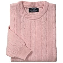 Johnstons of Elgin Cable-Knit Lambswool Sweater (For Men) in Rosebud - Closeouts