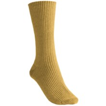 Johnstons of Elgin Cashmere Bed Socks (For Women) in Mustard - Closeouts