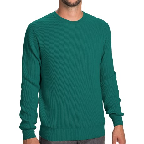 Johnstons of Elgin Cashmere Cardigan Stitch Sweater (For Men) in Baize