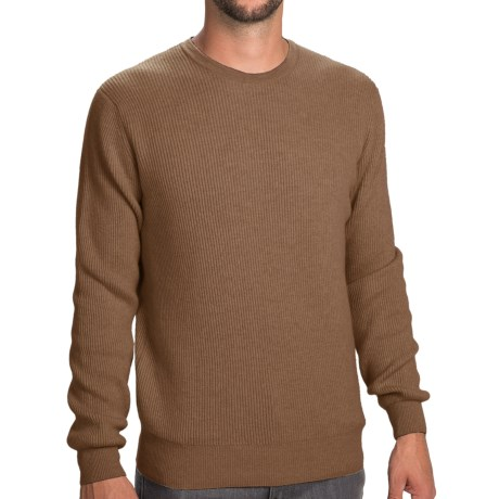 Johnstons of Elgin Cashmere Cardigan Stitch Sweater (For Men) in Caramel