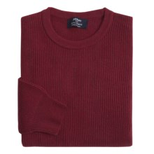 Johnstons of Elgin Cashmere Cardigan Stitch Sweater (For Men) in Damson Red - Closeouts