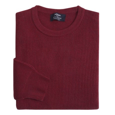 Johnstons of Elgin Cashmere Cardigan Stitch Sweater (For Men) in Pine